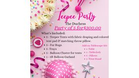 Image of a The Duchess Teepee Party Package
