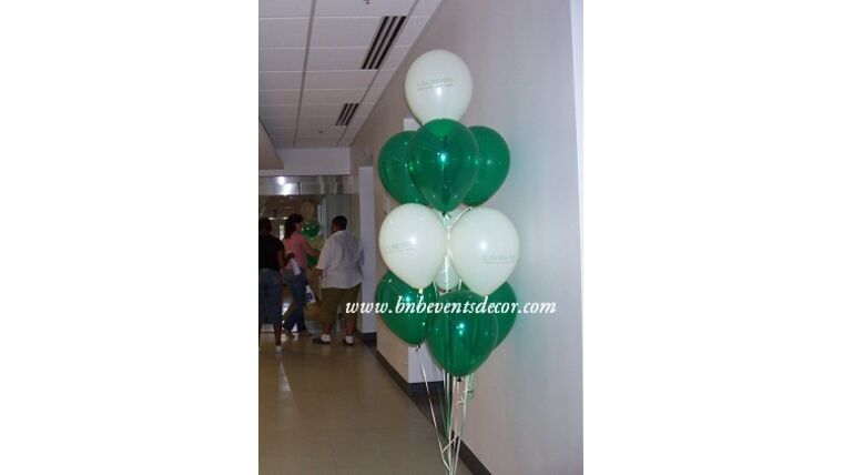 """Picture of a #12 11"""" Latex Balloon Bouquet"""