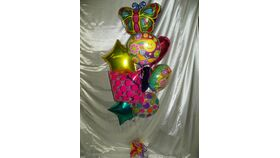 Image of a #9 Mylar Balloon Bouquet