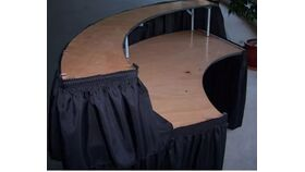 Image of a 6ft Serpentine Bar with Black Skirting