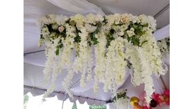 Image of a Shades Of White Floral Chandelier