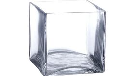 "Image of a 6"" Square Glass Vase"