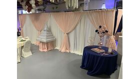 Image of a 20 ft Two Layer Backdrop