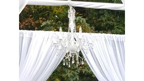 Image of a 6 Arm Crystal Chandelier