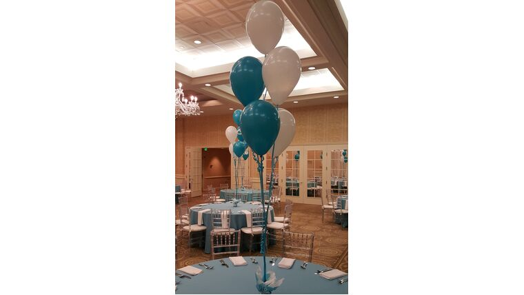 """Picture of a #5 11"""" Latex Balloon Bouquet"""