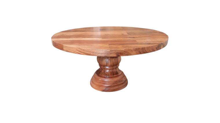 "Picture of a Dessert Pedestal - 13""  Wood"
