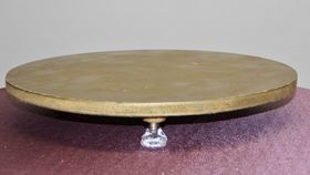 Image of a 19 inch Wooden Gold Cake Stand
