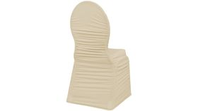 Image of a Champagne Spandex Chaircover