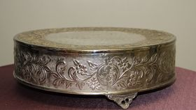 Image of a 18 inch Sliver Cake Stand