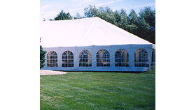Image of a 30' Cathedral Window Tent Sides 8' tall