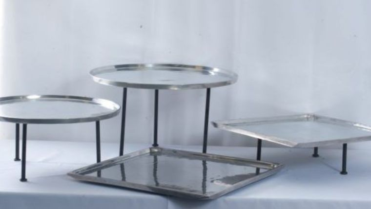 """Picture of a 18"""" Polished Aluminum Round"""