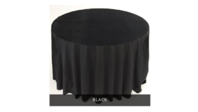 "Image of a 132"" Velvet Tablecloth"