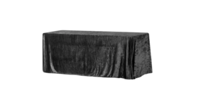 "Image of a 90"" x 156"" Velvet Tablecloth"