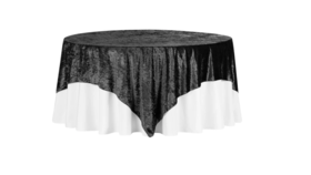 "Image of a 90"" x 90"" Velvet Tablecloth"