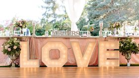 Image of a Love Marquee Sign - Large White