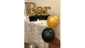 Image of a Bar Marquee Sign - Small Gold