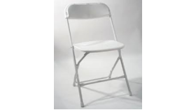 Image of a Chair - White Poly Folding