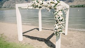 Image of a ARCH - Pergola - MODERN WHITE