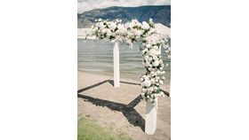 Image of a White Floral arrangement - Arch & Pergola flowers