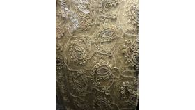 Image of a Runner - Organza / Sequin = GOLD PAISLEY