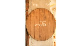 """Image of a """"Best Day Ever"""" Whiskey Barrel"""