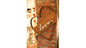 """Image of a """"Love"""" Whiskey Barrel Ring"""