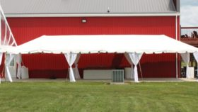 Image of a 15'x45' Frame Tent - No Sidewalls