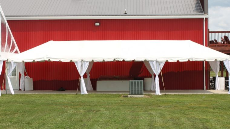 Picture of a 15'x45' Frame Tent - No Sidewalls