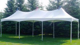 Image of a 10'x30' Tension Top Tent - No Sidewalls