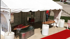 Image of a 10'x40' Frame Tent - No Sidewalls