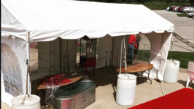 Image of a 10'x20' Gable End Frame Tent - No Sidewalls