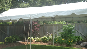 Image of a 10'x50' Gable End Frame Tent - No Sidewalls