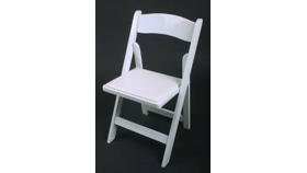 Image of a Chairs - Folding White Padded