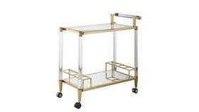 Image of a Lucite & Brass Kerri Bar Cart