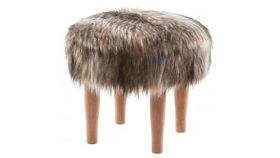 Image of a Faux Fur Footstool