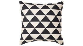 Image of a Black and Natural Patterned Pillow