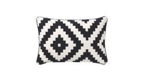 Image of a Black & White Bolster Pillow