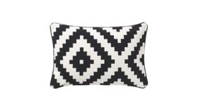 Image of a Black and White Bolster Pillows