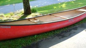 Image of a Fiberglass Old Town Canoe