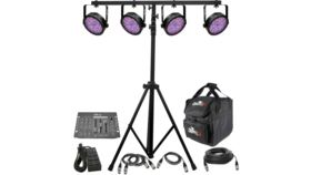 Image of a (4) Chauvet DJ SlimPAR 56 RGB Par w/ Stand