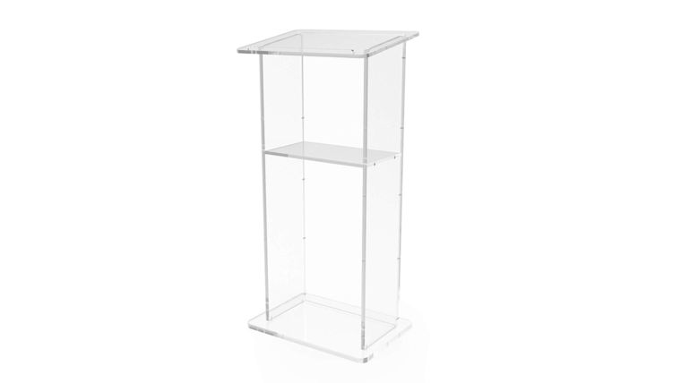 Picture of a Lucite Podium