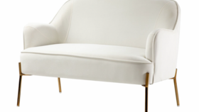 Image of a Upholstered Ivory Loveseat