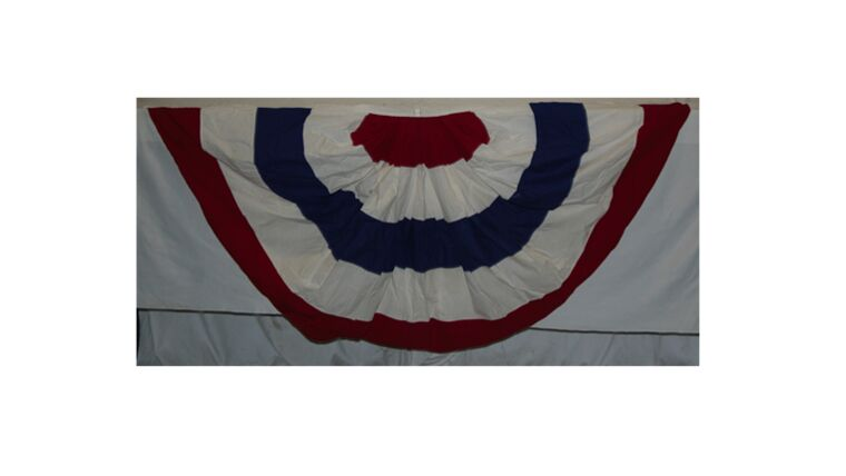 """Picture of a 5' 6"""" Wide Bunting Without Stars"""
