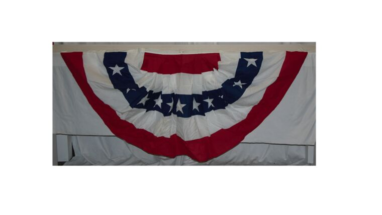 Picture of a 8' Wide Bunting with Stars