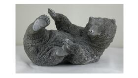 Image of a Bear on His Back Statue