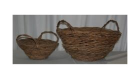 Image of a Large Vine Set of Baskets with Handles
