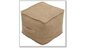 Image of a Burlap Pouf Seating