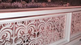 Image of a White and Acrylic Balustrade CLEAR ACRYLIC OR CUSTOM ENHANCED