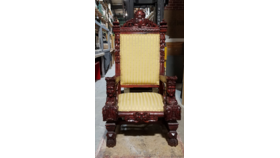 Image of a Antique Carved Throne / Santa Chair