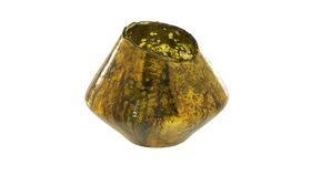 Image of a AD Tati Gold Vase / Votive - Oblong
